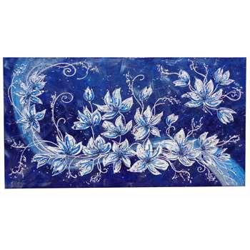 Armonia floreale in blu 2 vendita quadri online quadri moderni quadri astratti quadri - Dipinti camera da letto ...