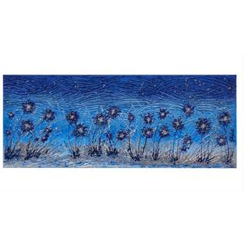 Fiori moderni in blu vendita quadri online quadri for Quadri a rilievo moderni