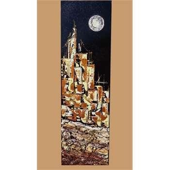 Citt con luna in verticale vendita quadri online for Quadri materici astratti