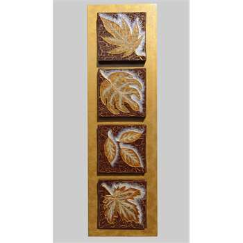 Foglie in verticale vendita quadri online quadri for Quadri materici astratti