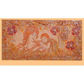 Maternit e fiori arancio vendita quadri online quadri - Quadri per camera da letto ...