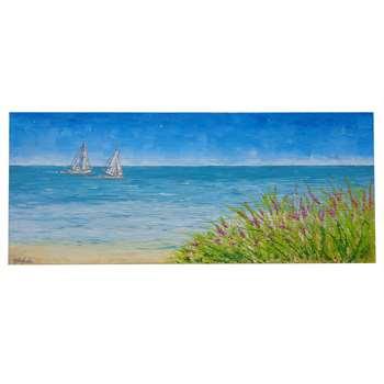 Paesaggio di mare con barche vendita quadri online for Quadri foto