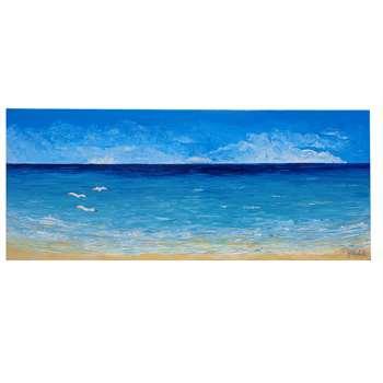 Paesaggio di mare con gabbiani vendita quadri online for Quadri dipinti a mano paesaggi