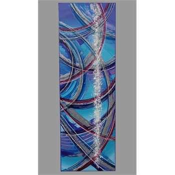 Astratto libero in turchese e viola vendita quadri for Quadri moderni in verticale
