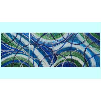 Astratto libero in blu vendita quadri online quadri - Quadro sopra letto ...
