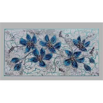 Ramo fiori blu vendita quadri online quadri moderni for Albero con fiori blu