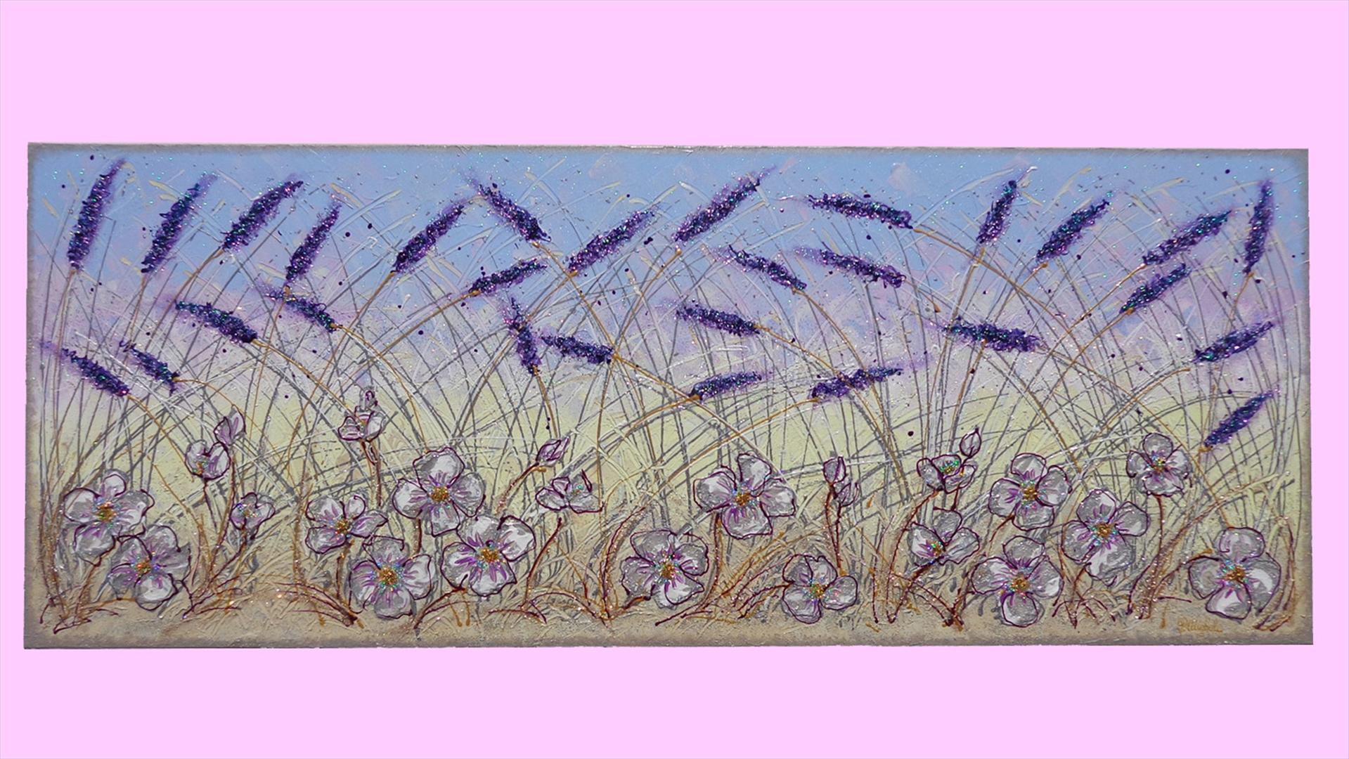 Fiori di lavanda e ranuncoli moderni vendita quadri for Immagini di quadri con fiori