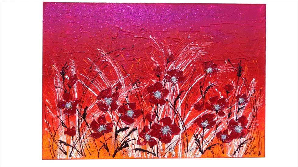 Fiori rossi moderni vendita quadri online quadri for Immagini quadri fiori