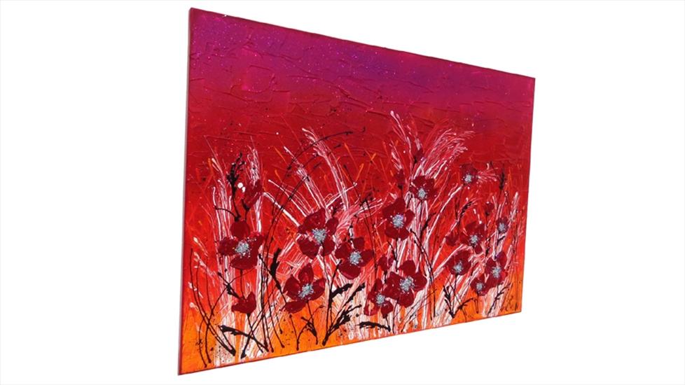 Fiori rossi moderni vendita quadri online quadri for Quadri moderni online