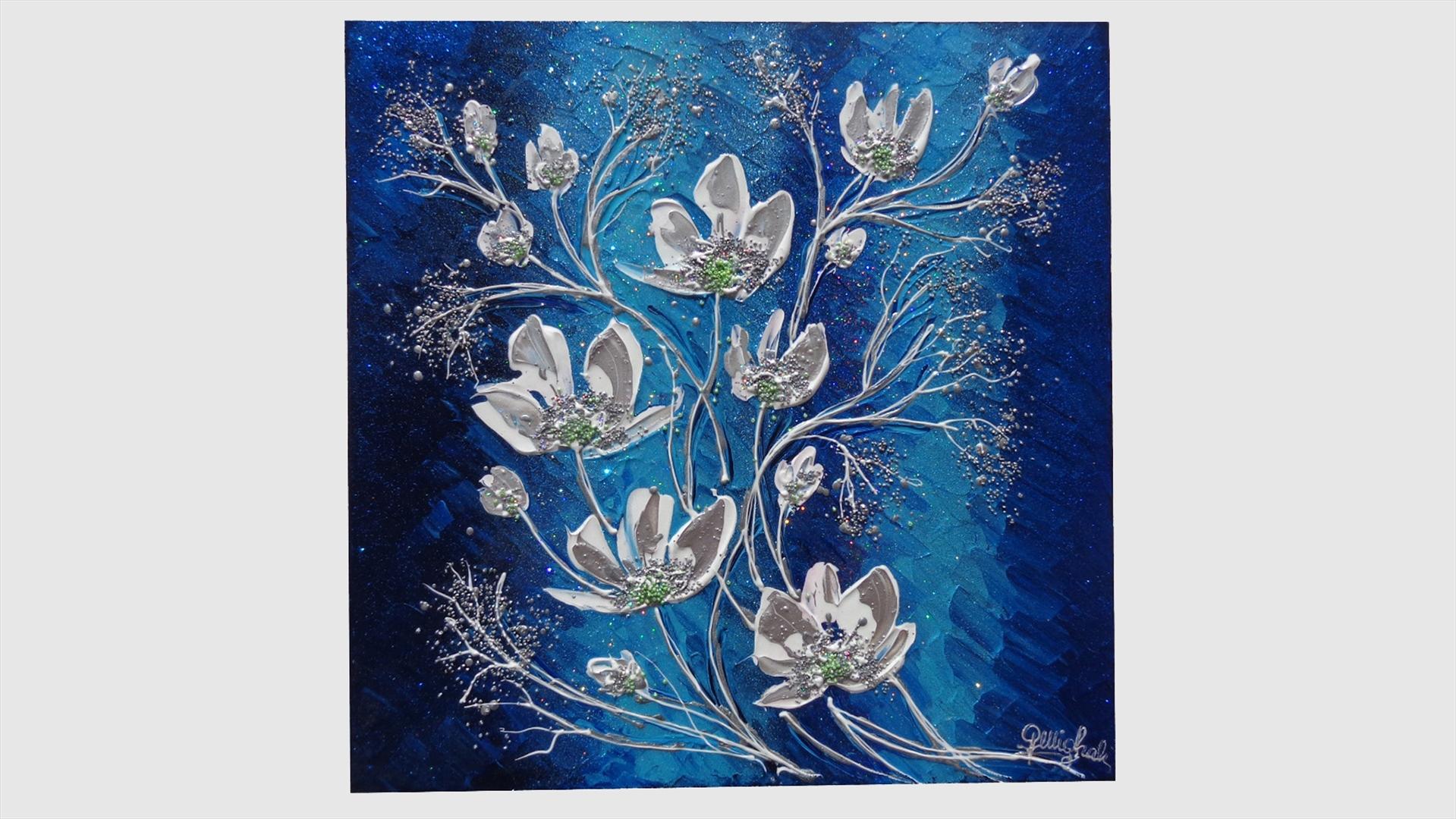 Magnolie in blu vendita quadri online quadri moderni for Quadri astratti immagini