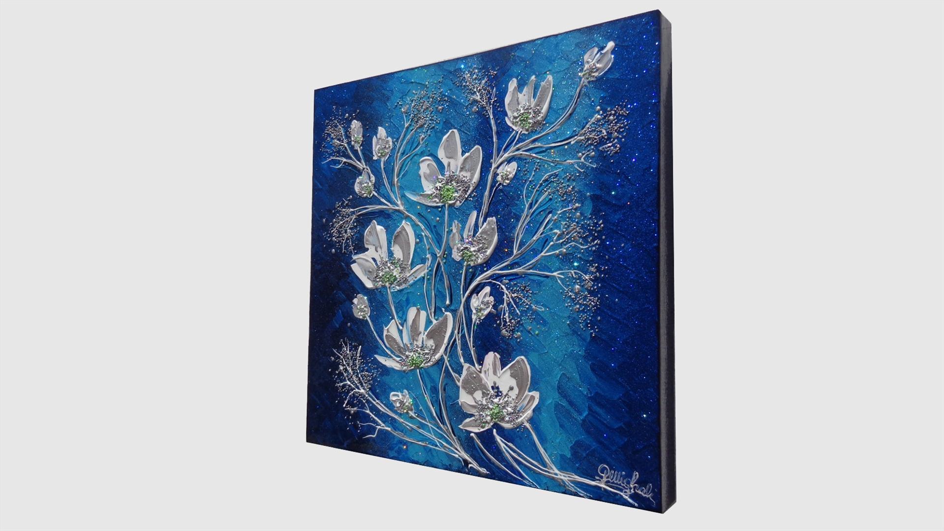 Magnolie in blu vendita quadri online quadri moderni for Quadri astratti on line