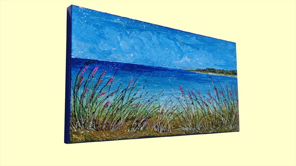 Paesaggio di mare e cespugli vendita quadri online for Quadri vendita online