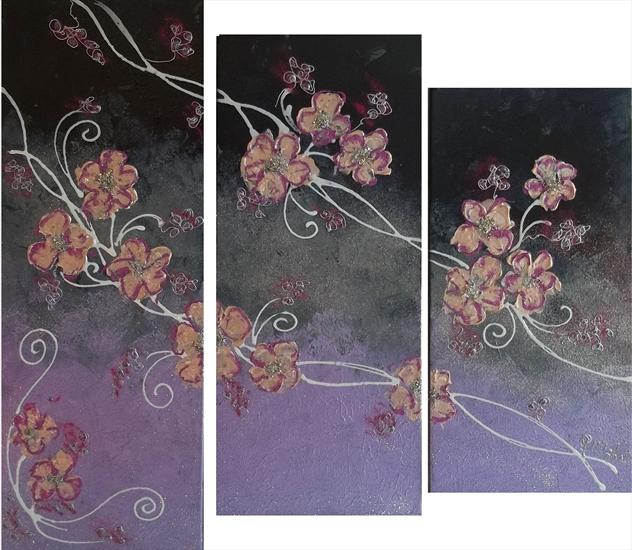 trittico fiori giapponesi vendita quadri online quadri