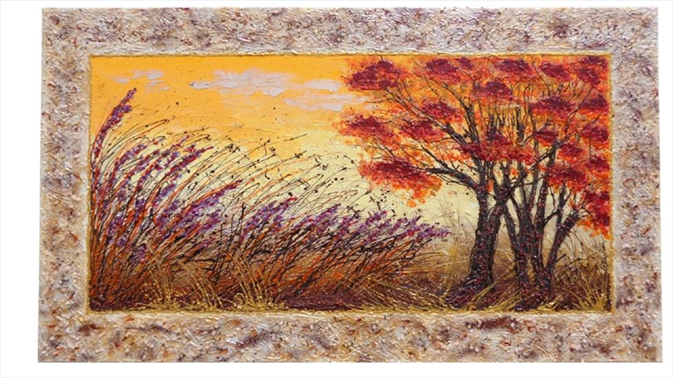 Colori al tramonto paesaggio vendita quadri online for Quadri moderni astratti dipinti a mano