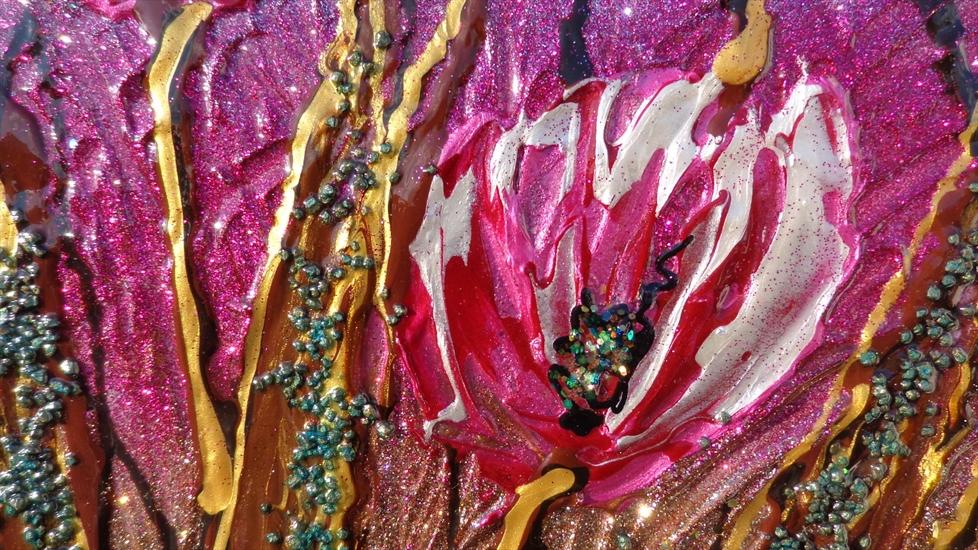 Tulipani fucsia moderni vendita quadri online quadri for Quadri vendita online