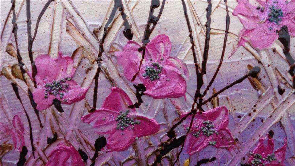 fiori astratti fucsia vendita quadri online quadri