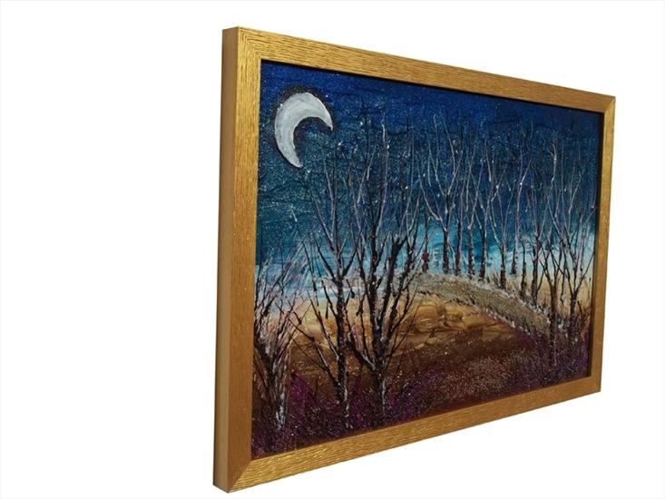 Bosco notturno astratto vendita quadri online quadri for Quadri dipinti a mano paesaggi