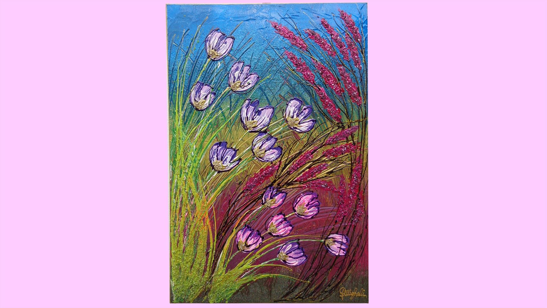 Cespugli di fiori vendita quadri online quadri moderni for Quadri moderni fiori dipinti a mano