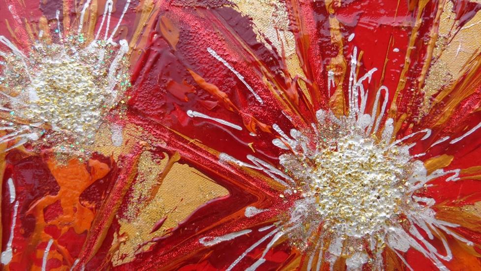 Margherite rosse astratte vendita quadri online quadri for Quadri materici astratti