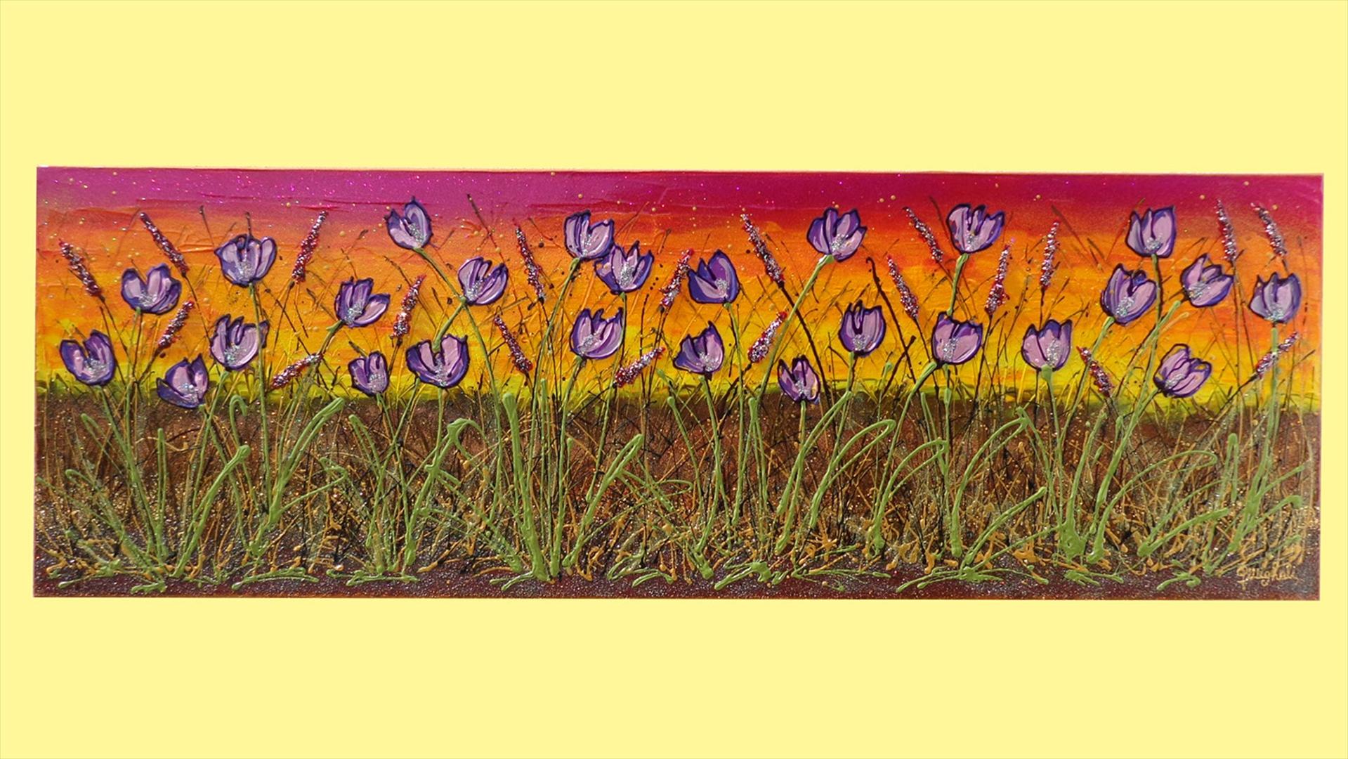 Distesa di tulipani viola vendita quadri online quadri for Quadri astratti immagini