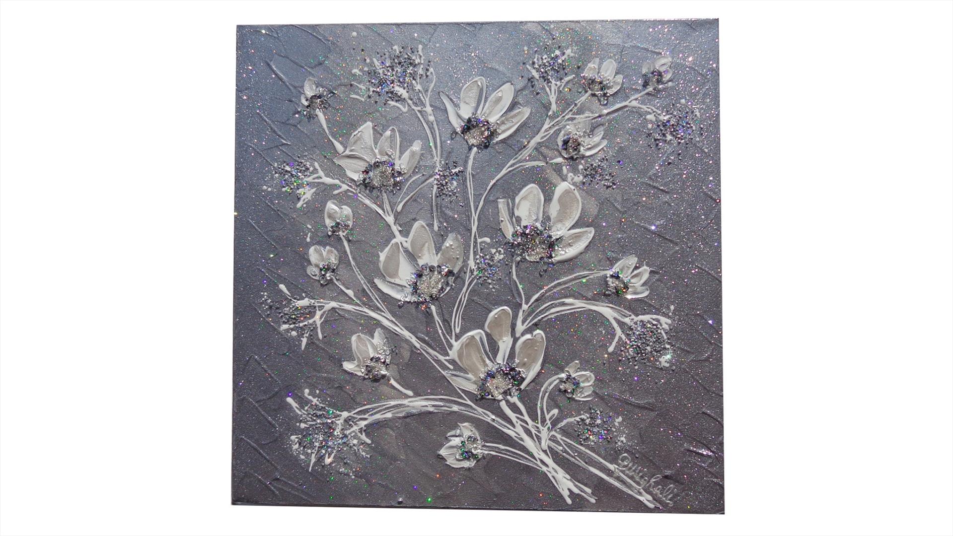 Fiori piccoli argento vendita quadri online quadri for Quadri moderni astratti dipinti a mano