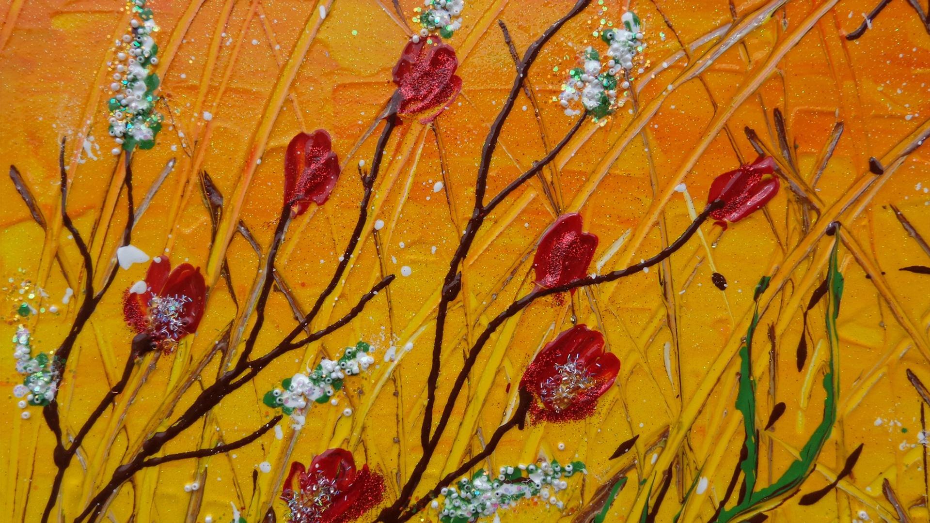 Fiori rossi rampicanti vendita quadri online quadri for Immagini quadri fiori
