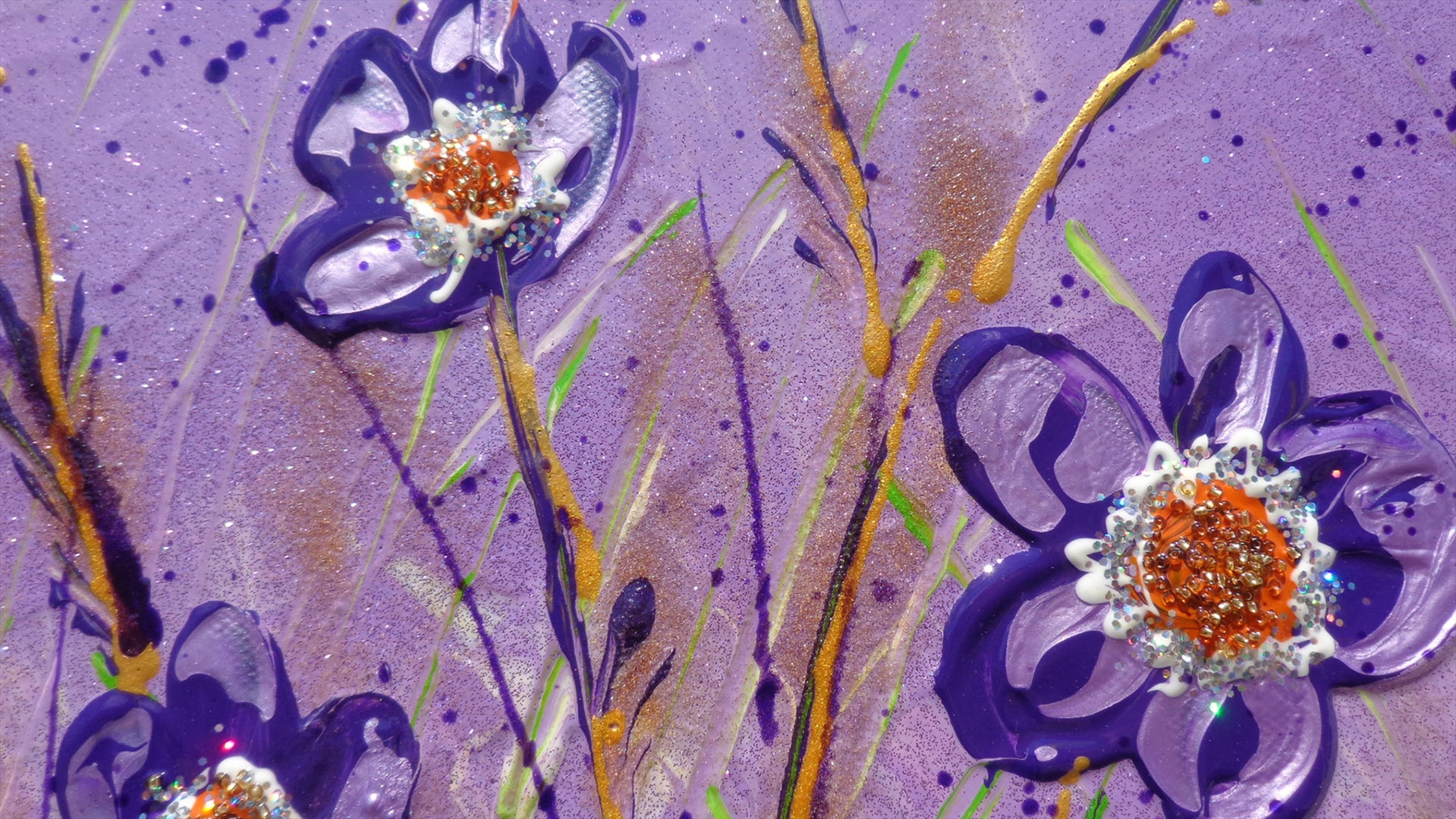 Fiori viola in verticale vendita quadri online quadri for Quadri moderni fiori dipinti a mano