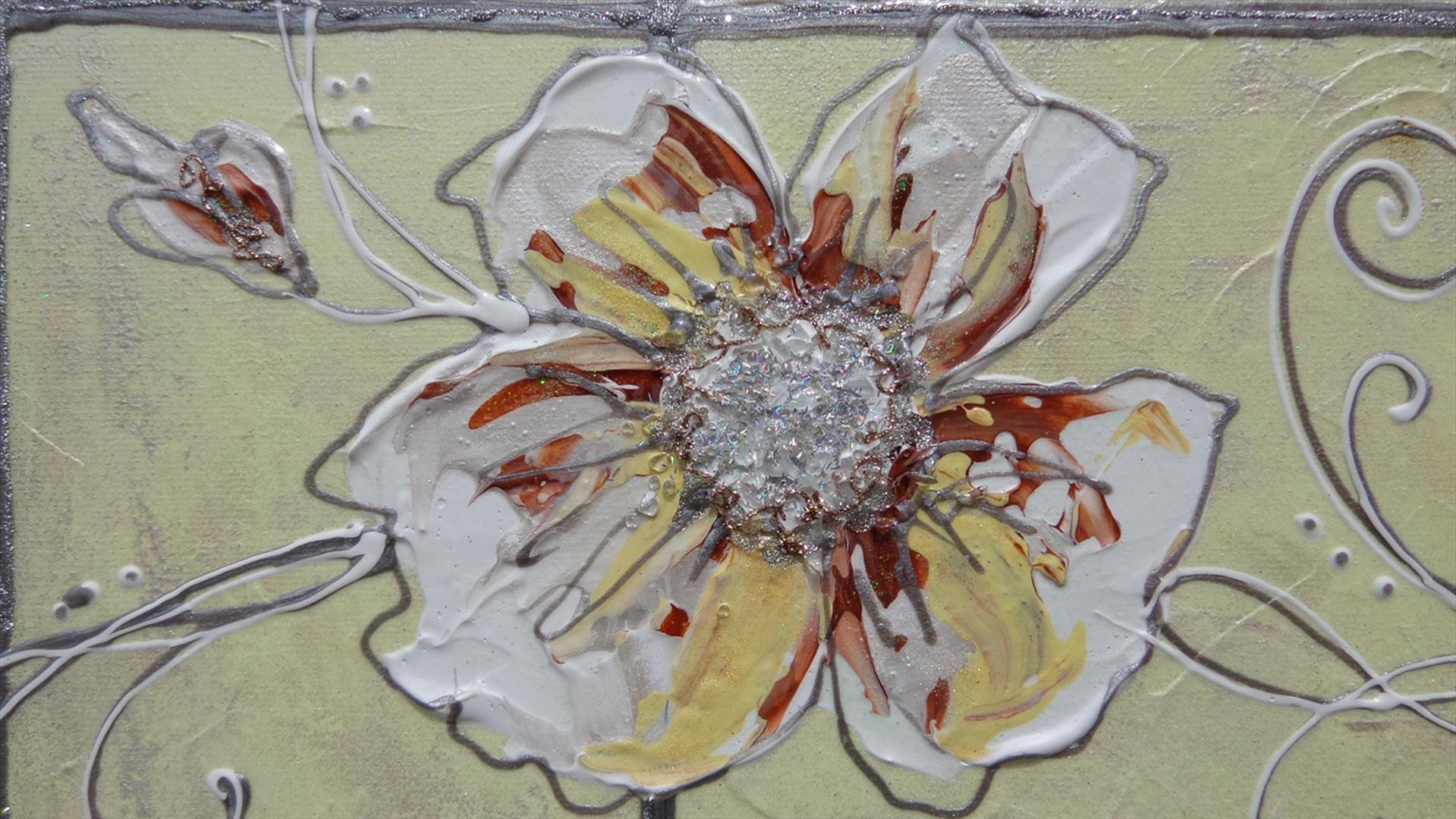 Fiori in chiaro astratti 2 vendita quadri online for Quadri moderni fiori dipinti a mano