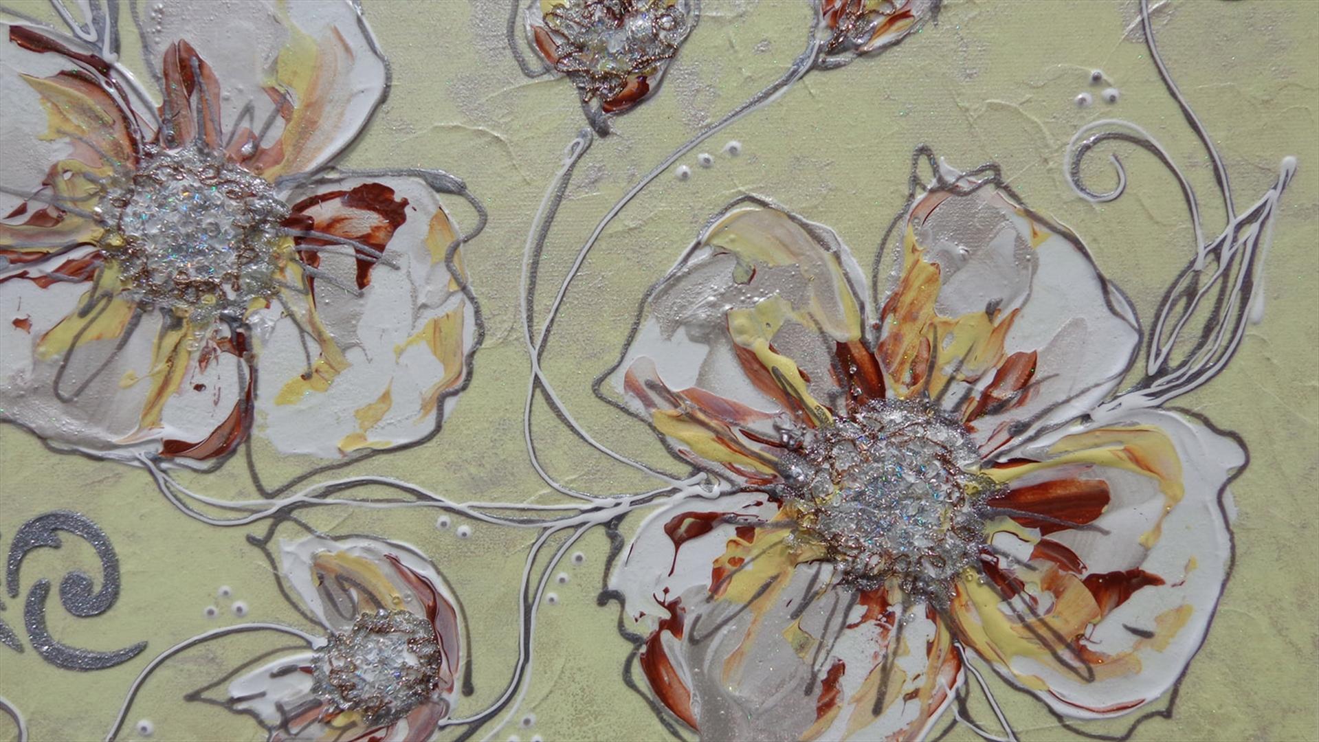 Fiori in chiaro astratti 2 vendita quadri online for Immagini di quadri con fiori