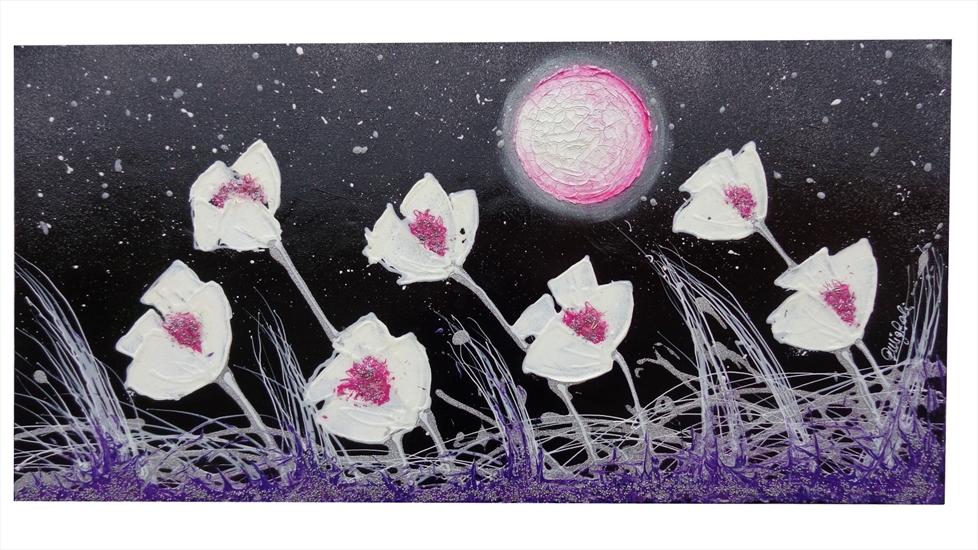 Fiori moderni di notte vendita quadri online quadri for Quadri moderni a rilievo