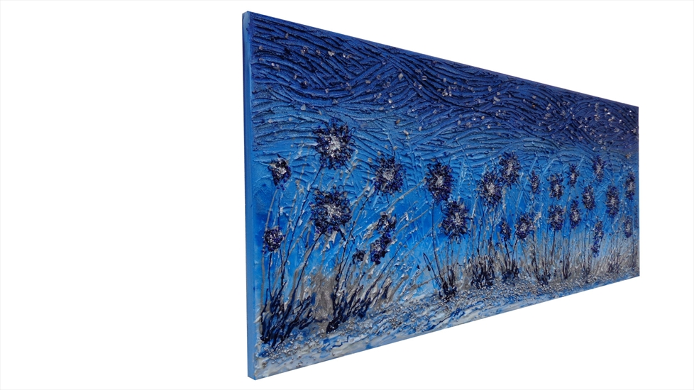 Quadri Moderni Fiori : Fiori moderni in blu vendita quadri online