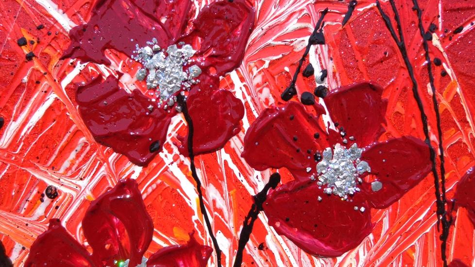 fiori rossi moderni vendita quadri online quadri
