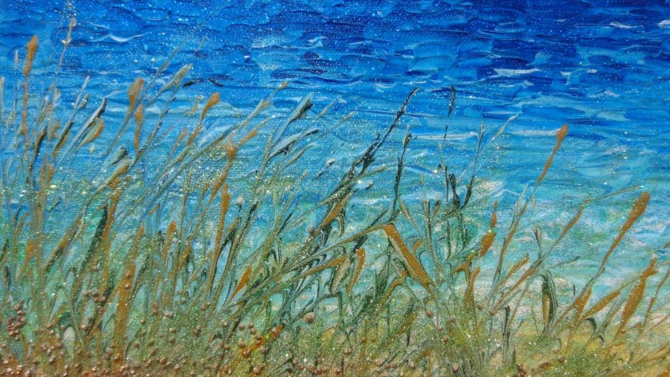 Mare salentino al mattino vendita quadri online quadri for Quadri dipinti a mano paesaggi
