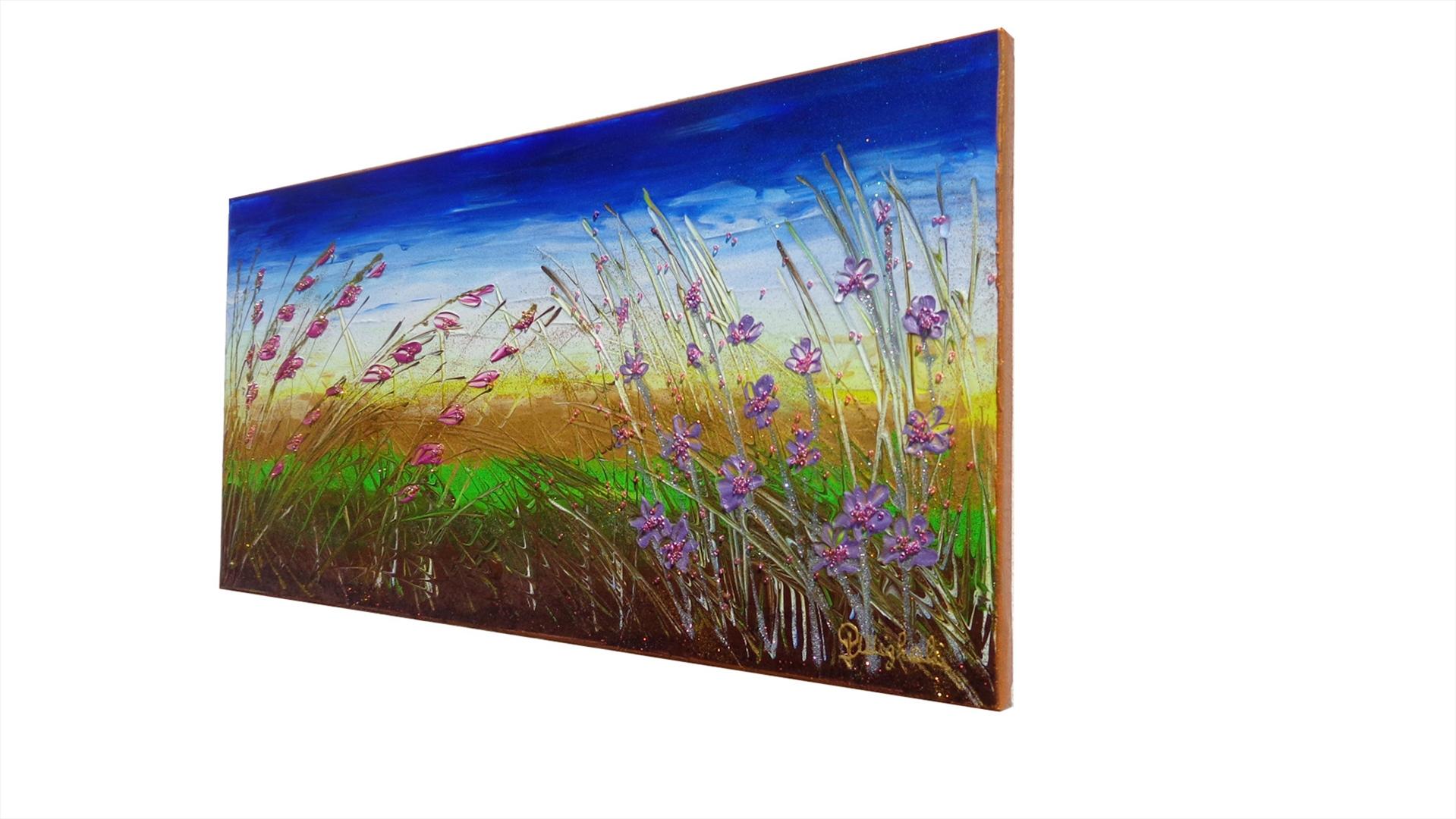 Paesaggio piccolo con fiori   Vendita Quadri Online   Quadri moderni ...