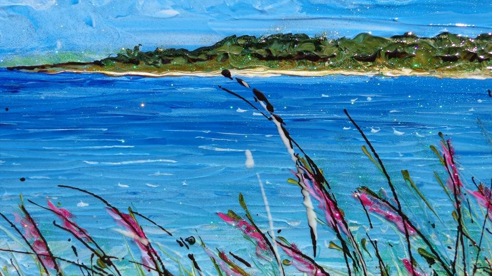 Paesaggio di mare e cespugli vendita quadri online for Quadri astratti immagini