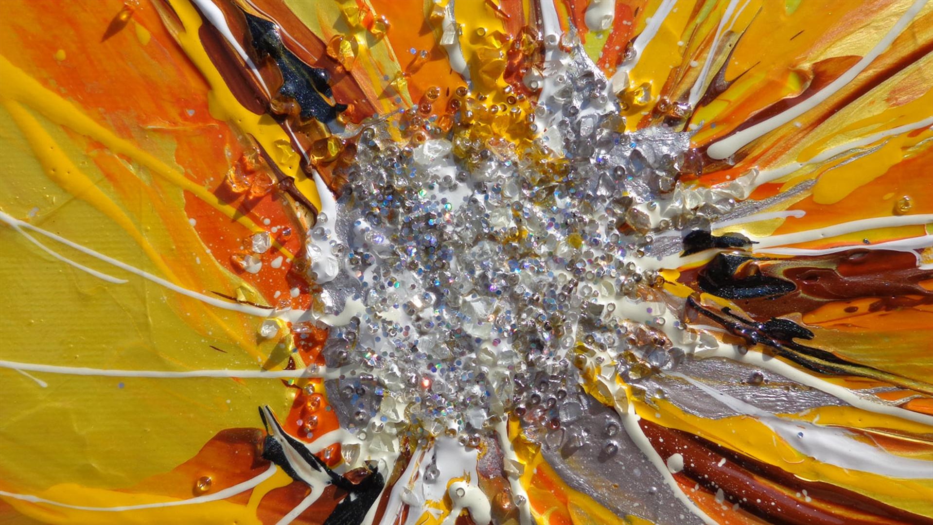papaveri moderni arancioni vendita quadri online