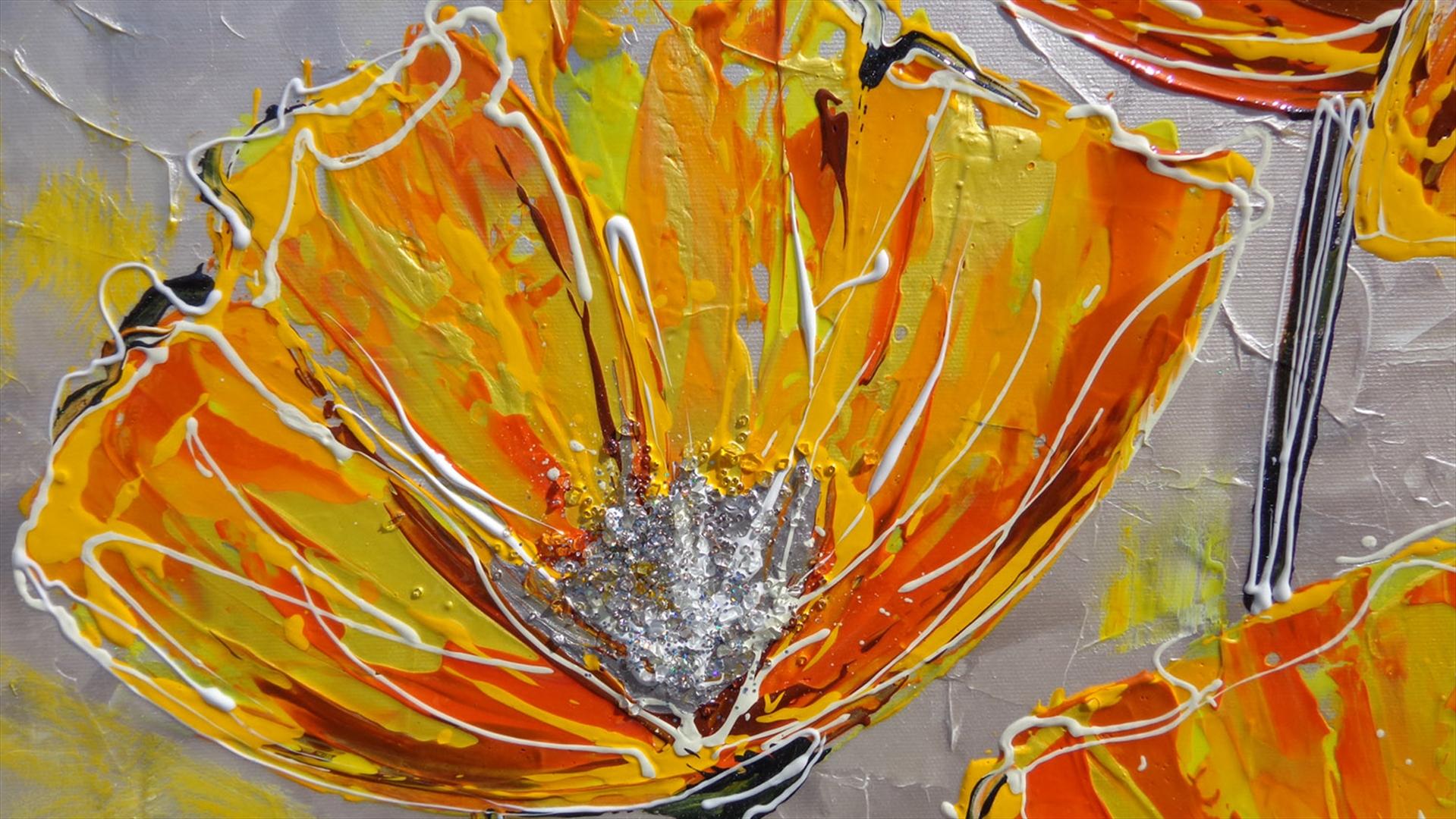 Papaveri moderni arancioni vendita quadri online for Quadri astratti on line