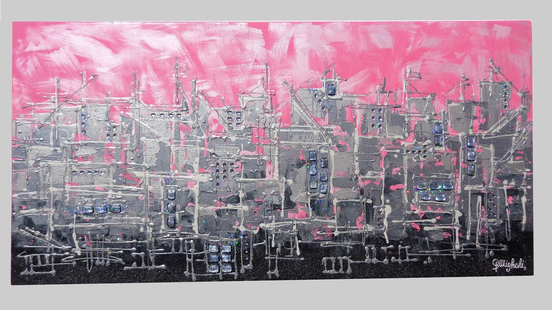 Pink-City ( Città rosa ) | Vendita Quadri Online | Quadri moderni ...