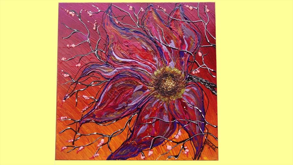 Fiore tra i rami vendita quadri online quadri moderni for Immagini di quadri con fiori