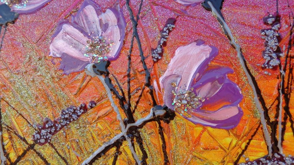 Fiori lilla al tramonto vendita quadri online quadri for Quadri moderni fiori dipinti a mano
