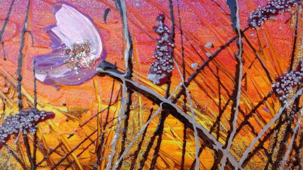 Fiori lilla al tramonto vendita quadri online quadri for Quadri astratti on line