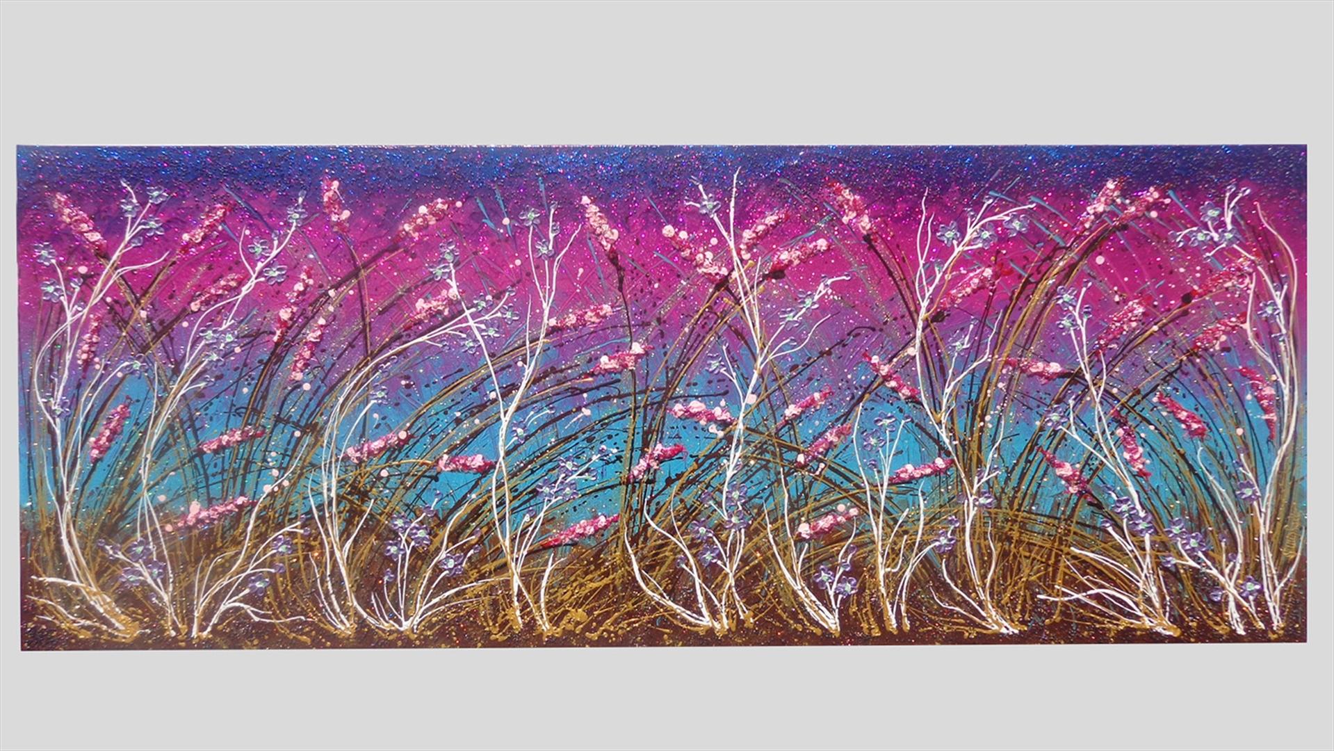 Distesa di fiori sfumati vendita quadri online quadri for Quadri astratti immagini