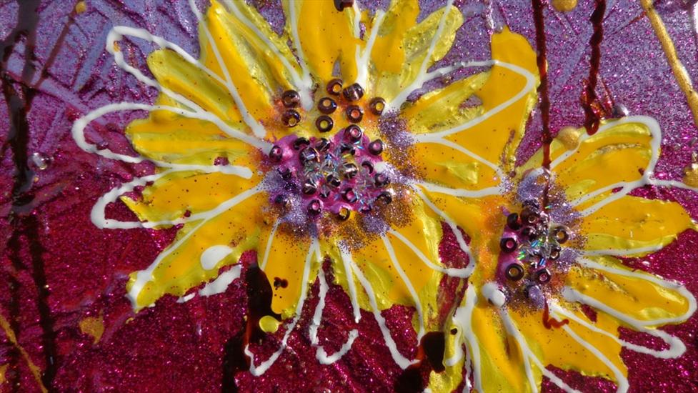Margherite gialle astratte moderne vendita quadri online for Immagini dipinti astratti