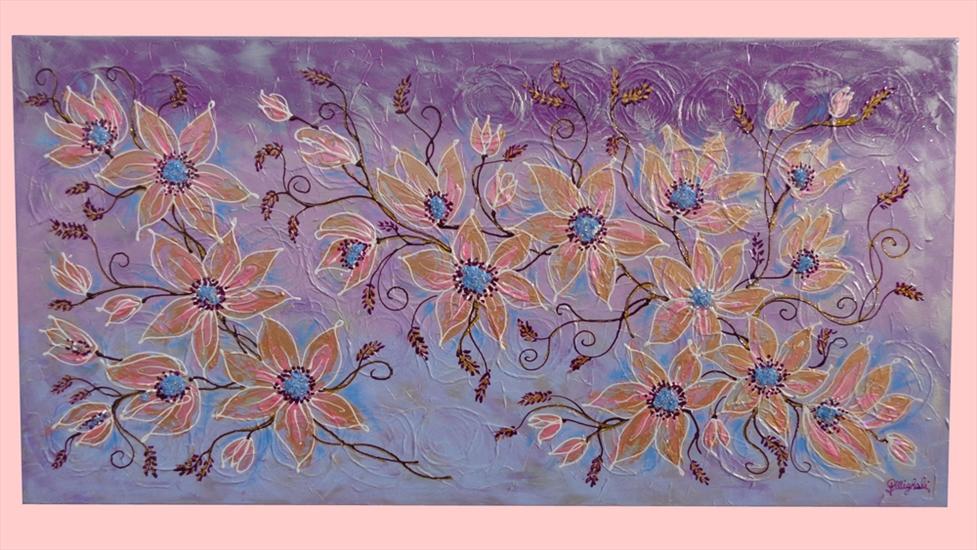 Armonia floreale in lilla vendita quadri online quadri for Quadri materici astratti