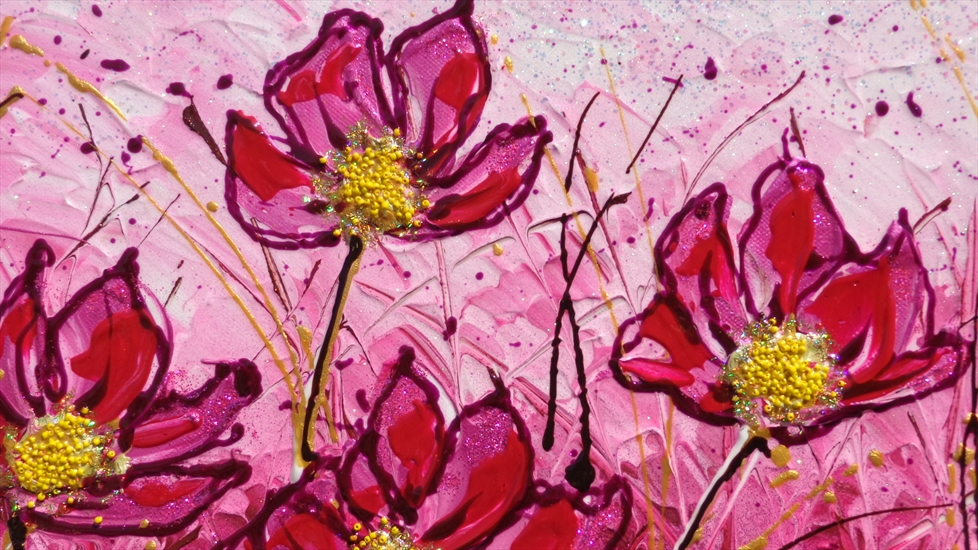 Campo di fiori in fucsia vendita quadri online quadri for Immagini di quadri con fiori
