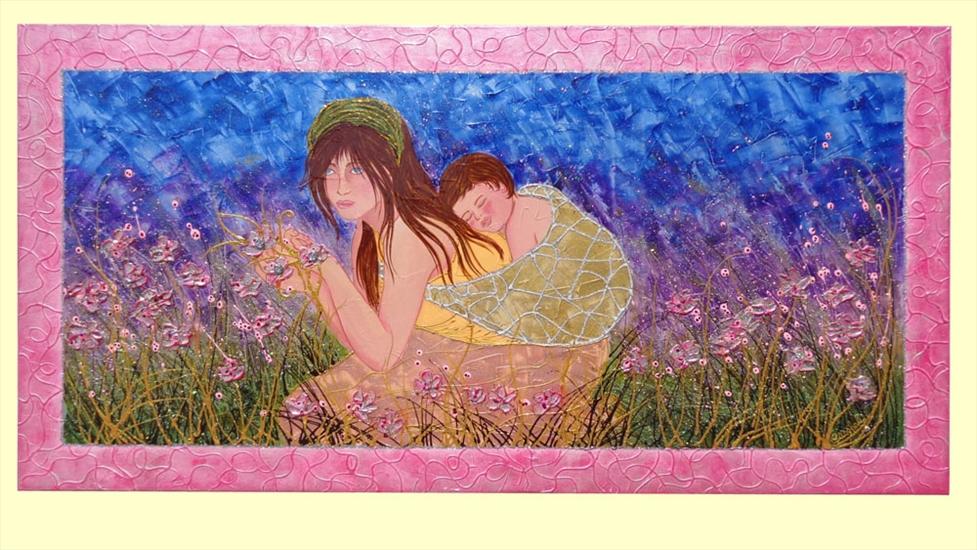 Maternit tra i fiori vendita quadri online quadri - Quadri camera da letto moderna ...