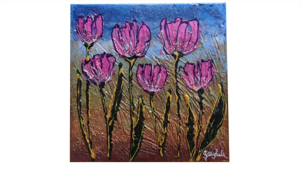 Tulipani piccoli moderni 2 vendita quadri online for Quadri piccoli moderni