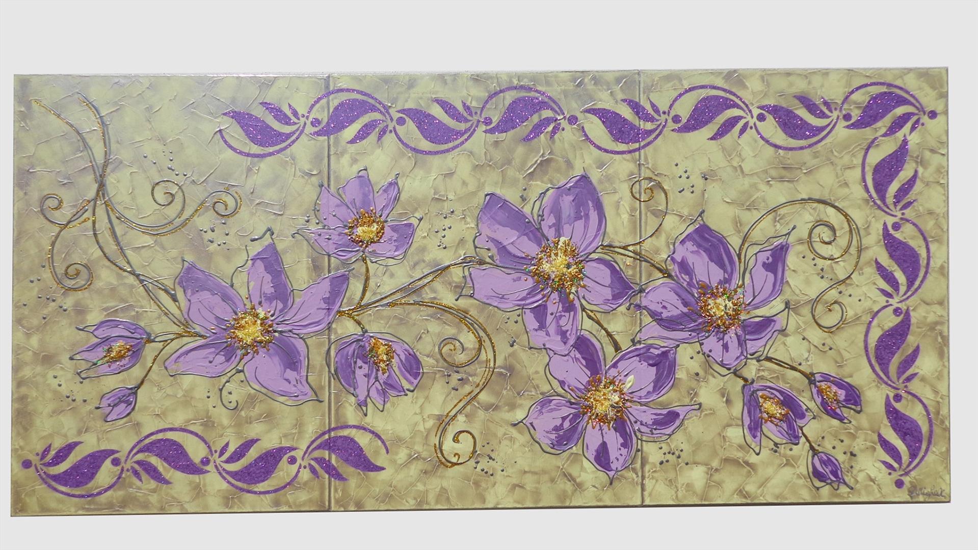Stelo di fiori lilla vendita quadri online quadri moderni quadri astratti quadri - Dipinti camera da letto ...