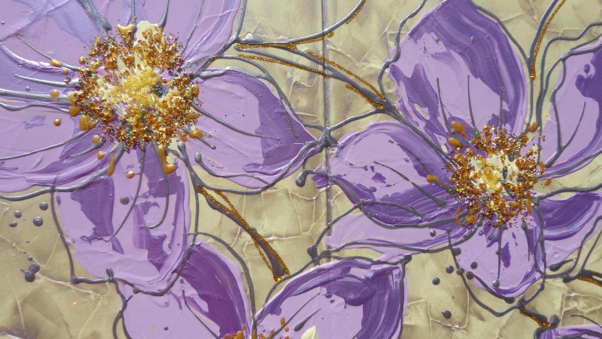 Pin quadri moderni dipinti a mano immagini fiori astratti for Quadri fiori olio