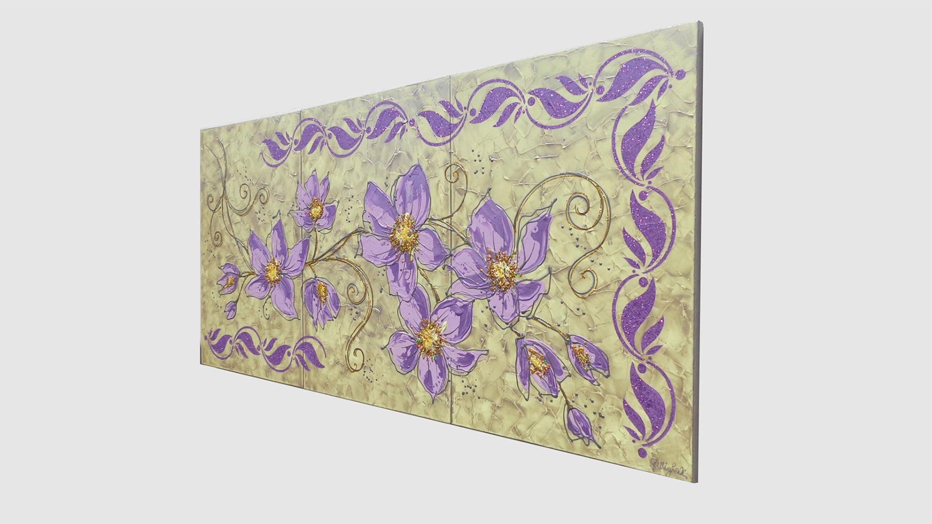 Stelo di fiori lilla vendita quadri online quadri moderni quadri astratti quadri - Tele per camera da letto ...